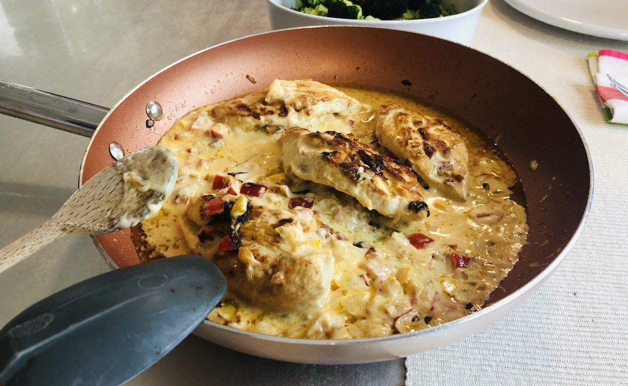 Pechuga de pollo relleno